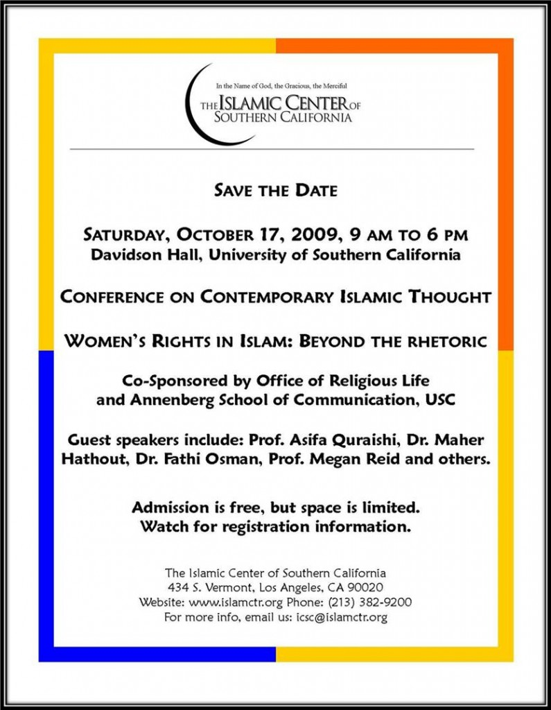 The Islamic Center has joined with USC to hold a conference on women's rights in Islam